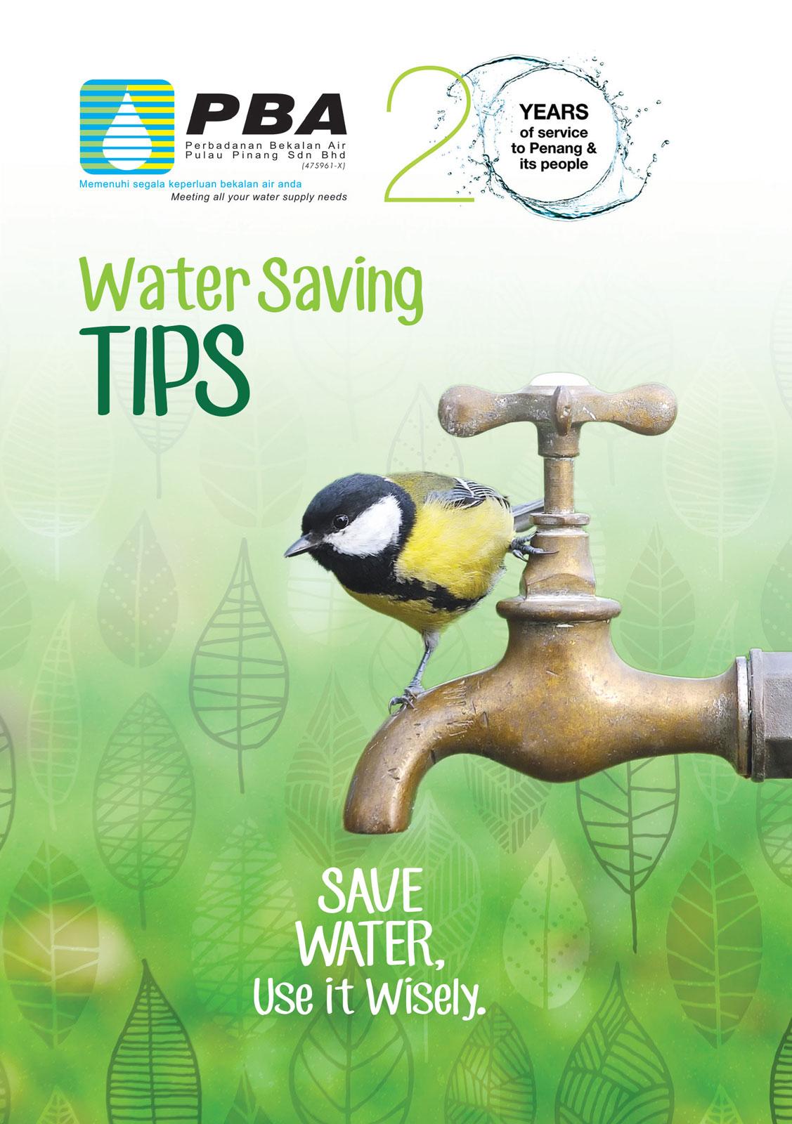 Water Saving Tips - English